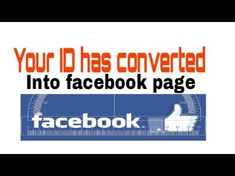 How to convert our facebook id into fanpage अपने फेसबुक आय डी को फॅनपेज मे कैसे बदले
