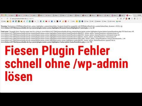 WordPress Hack: Plugins Deaktivieren ohne Admin Zugang [Deutsch/German]
