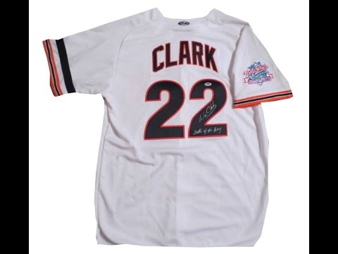 Will Clark Signed San Francisco Giants 1989 World Series Baseball Jersey from Powers Autographs