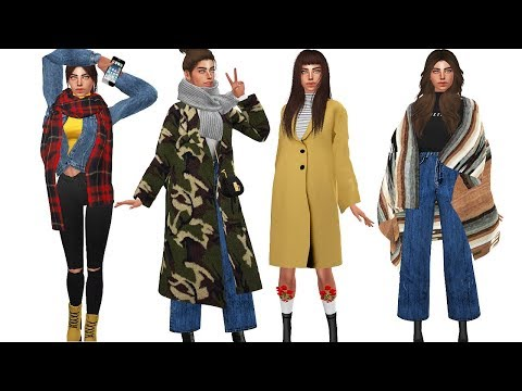 The Sims 4: Sweater Weather   Winter Lookbook + FULL CC LIST!