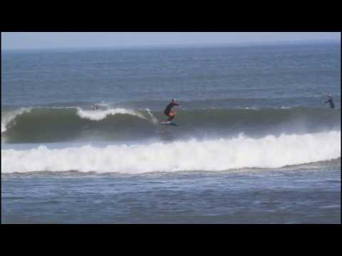 Amit Foil surfing the Chicama Bay- incredibly long wave!!