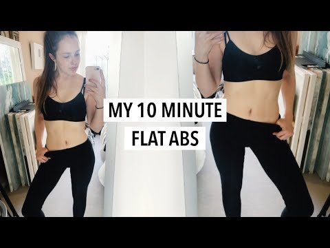 MY FLAT ABS WORKOUT ROUTINE 2018 - How I finally toned my stomach! (No equipment)