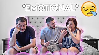 Breaking the news to my parents.. (They cried)