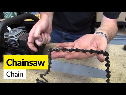 How to fit a replacement chainsaw chain