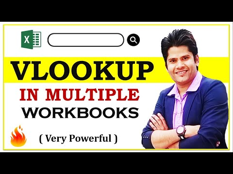How To Use Vlookup With Multiple Excel Workbooks || Hindi || Full HD