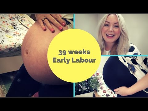 39 WEEKS PREGNANT: Early Labour Signs | Vlogmas Day 20