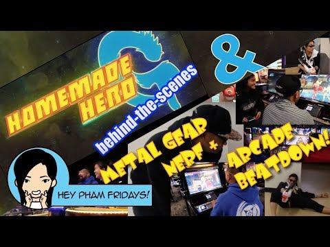 Hey Pham! Homemade Hero G BTS! Metal Gear Nerf & Arcade Beatdown!