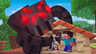 Minecraft: DESAFIO DA BASE 100% SEGURA CONTRA ARANHA GIGANTE ‹ JUAUM ›