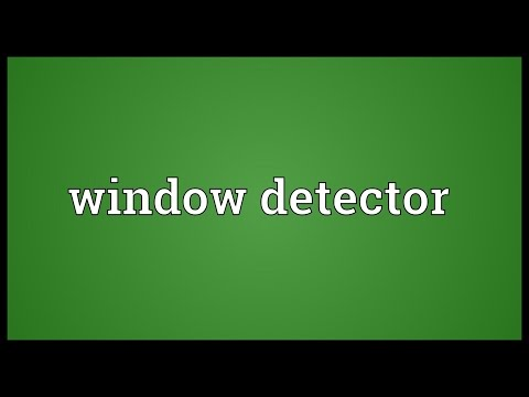 Window detector Meaning