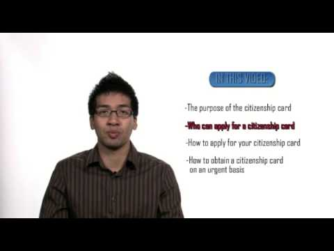 HOW TO GET A CANADIAN CITIZENSHIP CARD