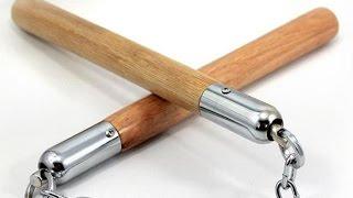 How to make a Paper Nunchaku (Nunchucks) EASY - Ninja Weapon Tutorials