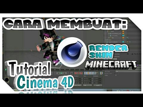 Cinema 4D Tutorial Cara Render Skin Minecraft Di Cinema 4D Dengan Mudah