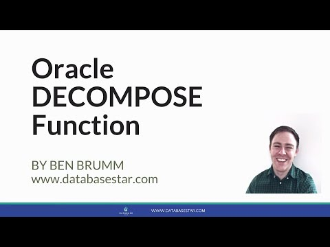 Oracle DECOMPOSE Function
