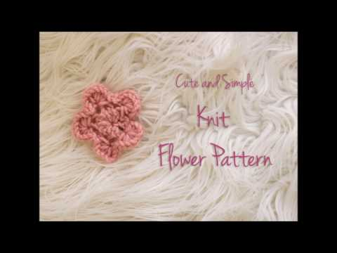 How to Make Cute and Simple Knit Flower