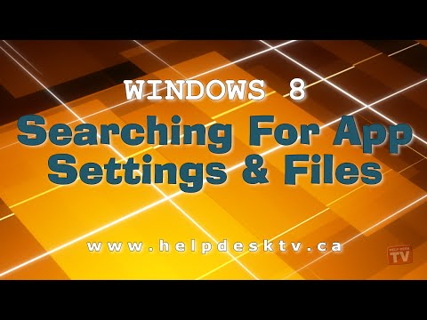 Searching For App Settings And Files In Windows 8