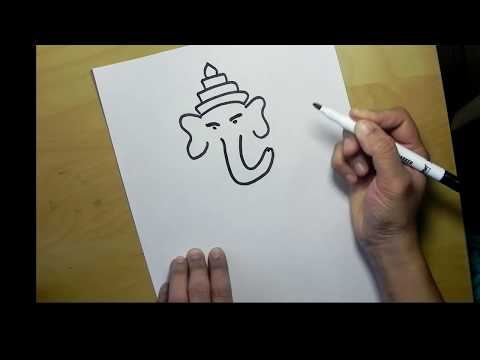 How to draw Lord Ganesha drawing for Children step by step||Draw Ganesha easily