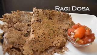 Instant Ragi Dosa Recipe    Finger Millet Dosa  -  Taj Kitchen