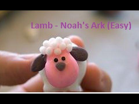 Easy Lamb Clay Sculpture Fondant Gum Paste Christian Kids Noah's Ark Marzipan