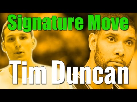 How To: Tim Duncans Signature Post Moves | Bank Shot, Footwork, Counters | Basketball, NBA