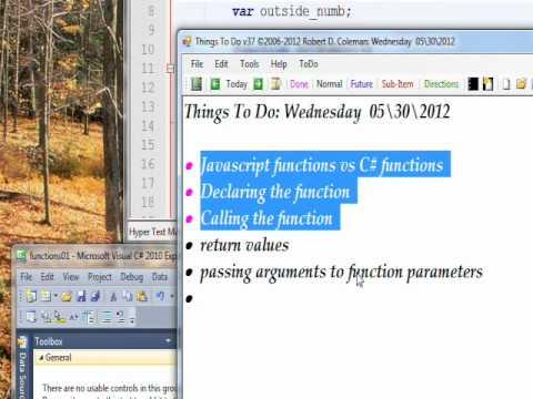 C# Edge 13 -  C# functions vs Javascript functions part 1