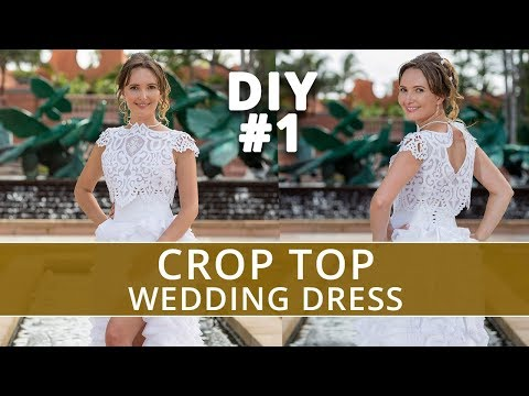Sewing Crop Top wedding gown DIY #1 | Two piece wedding dress