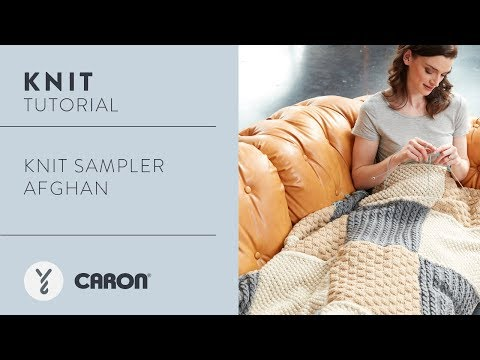 How to Knit the Knit Sampler Afghan
