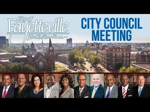 Fayetteville City Council Meeting - March 19, 2018