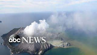 Tourists flee as volcano erupts in New Zealand