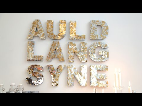 DIY New Years Eve Sign