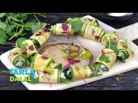 Zucchini Roll Ups by Tarla Dalal