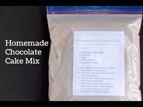 DIY Chocolate Cake Mix ~ Homemade Cake Mix