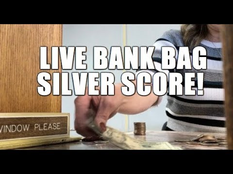 Live Bank Bag Score!!! We Are Still Getting Silver Half Dollars In Bank Bags!