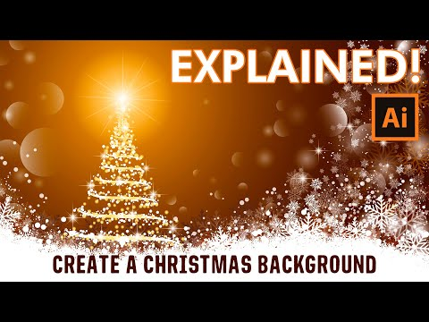 Illustrator Tutorial - How to draw a Christmas Background