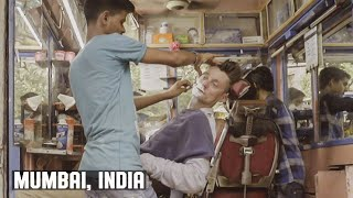 Classic Traditional Mumbai Indian Street Barber Wet Shave