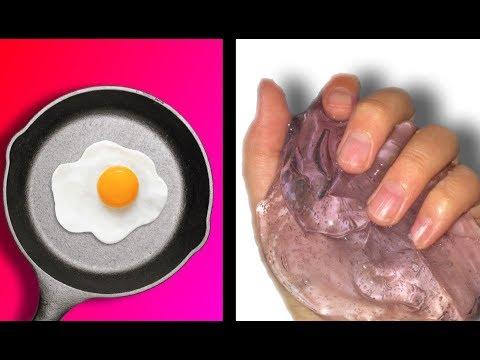 EGG SLIME💦 Testing NO GLUE EGG Slime Recipes!