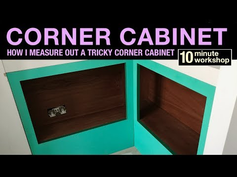 Corner cabinet in Sapele, #174