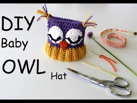 How to Make This Owl Baby Hat