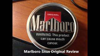 Marlboro Snus Original Review