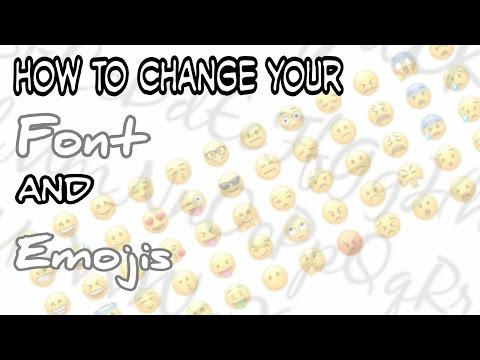 How to change your font and emojis on Android