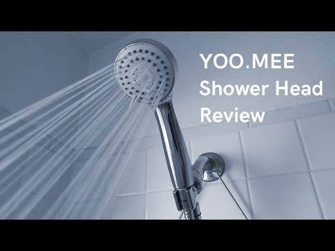 YOO.MEE High Pressure Handheld Shower Head Review & Unboxing | Drain Help