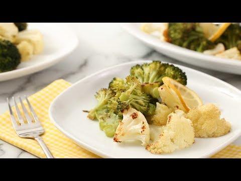 Roasted Broccoli and Cauliflower with Lemon and Garlic- Martha Stewart