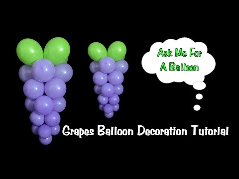 Grapes Balloon Decoration Tutorial