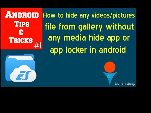 How to hide media files(video and images ) from the gallery in android