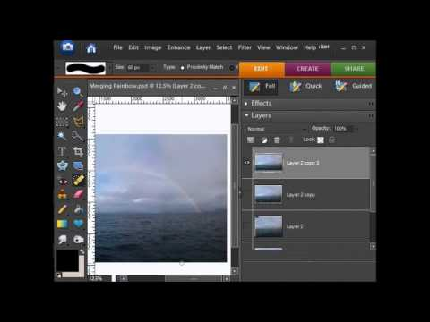 Photoshop Elements: Merging Two Photos