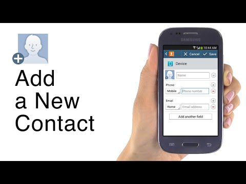 How to Add a Contact on Jitterbug Touch