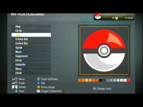 Black Ops-How to make a Pokeball as your emblem