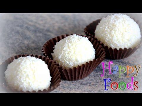 How to make homemade Coconut Raffaello Balls | HappyFoods