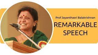 குழந்தை  வளர்ப்பு பற்றி ஜெயந்த ஸ்ரீ பாலகிருஷ்ணன்|Jayanthasri balakrishnan speech about parenting