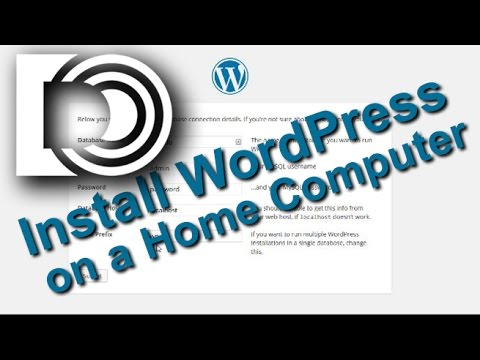 Install WordPress 4.4 on a Home Webserver for Beginners
