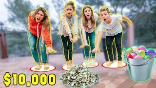 LAST TO LEAVE CIRCLE WINS $10,000 *WATER BALLOON CHALLENGE* | The Royalty Family